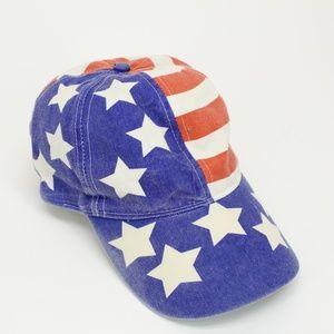 Vintage Demin Look American Flag Hat